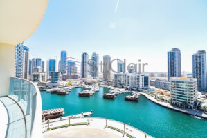 Property for Sale in High Floor Full Marina View 2Br Laundry